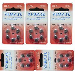 Sunmax 30 X Hearing Aid Batteries A13 13A Za13 13 Pr48