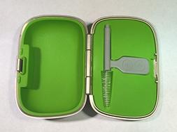 Phonak Hearing Aid Case Gold/Green Clean tool Large