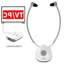 Artiste APH100 Wireless Headphones for TV, 2.4GHz Digital Wi