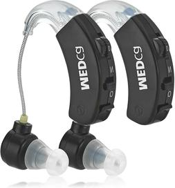 Hearing Aid Pair Behind the Ear Sound Amplifier Amplificatio