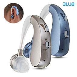 hearing amplifier volume controlable feedback