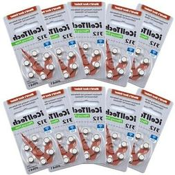 iCell Tech Size 312 Hearing Aid Batteries, Total of 60 Batte