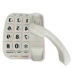 JaxFone JF11W Big Button Corded Phone for Elderly Amplified