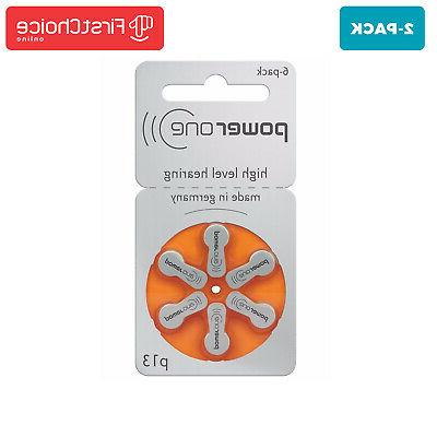 12 count power one hearing aid batteries