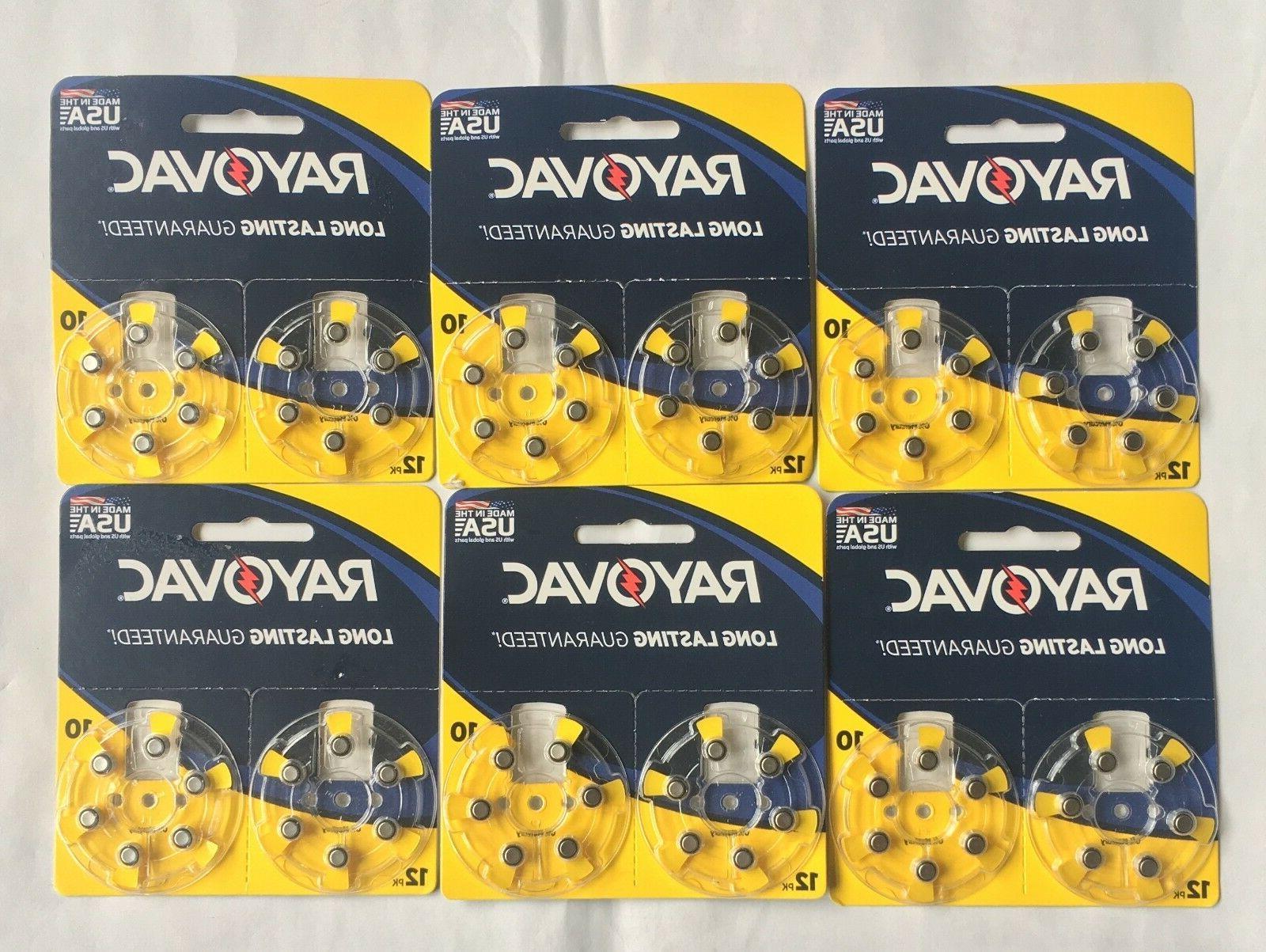 12 pack Rayovac Hearing Aid Batteries Size 10 L10ZA-6ZM Merc
