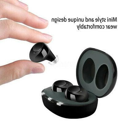 1Pair Rechargeable Ear Enhancer Sound Voice Amplifier