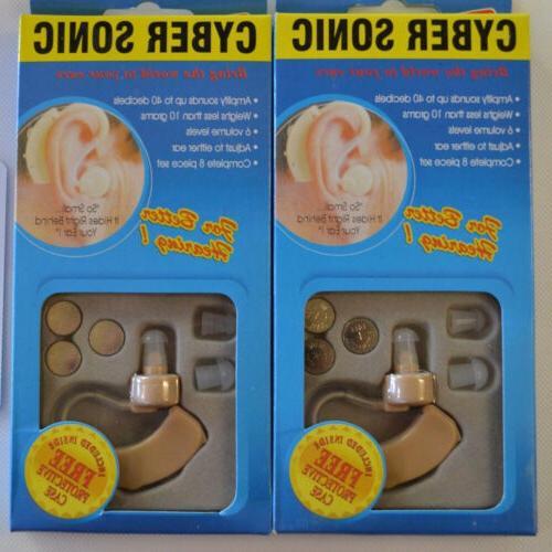 2* Best Adjustable Hearing Aids Aid Digital Tone Behind Ear