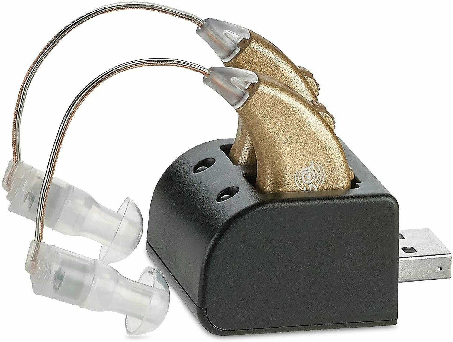 2 digital hearing aids usb rechargeable pair