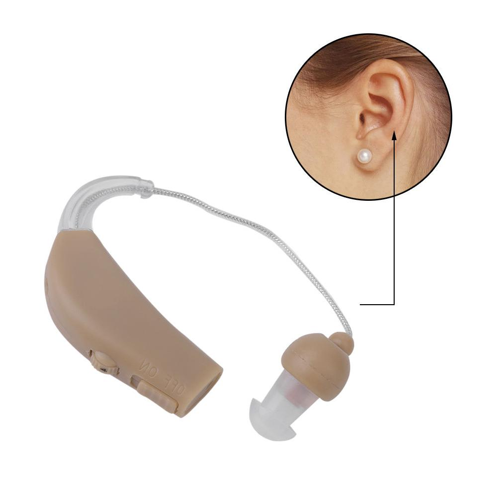 2 Hearing Kit Behind the Ear Sound Amplifier