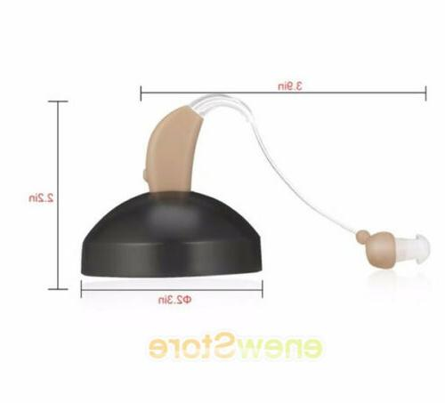 2 Rechargeable Ear Hearing Audiphone Sound Amplifier