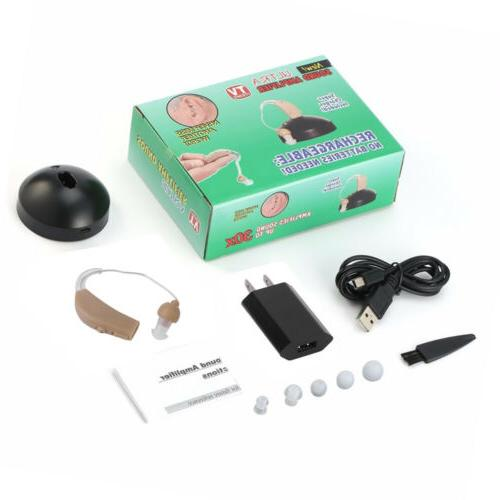 2 Rechargeable Acousticon Ear Hearing Audiphone