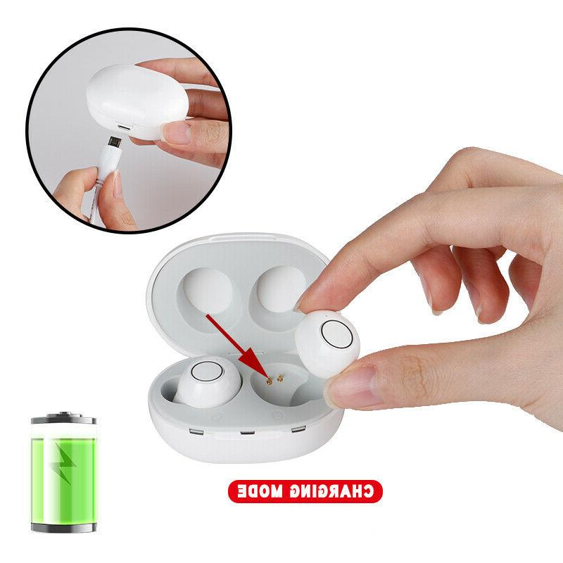 1Pair Rechargeable Invisible Aids Digital Sound Amplifier Enhancer