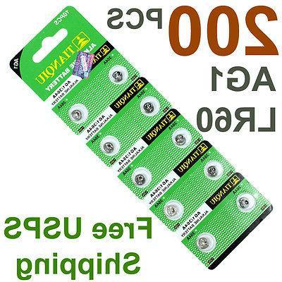 200 PCS AG1 364 LR621 1.5V Battery Watch Hearing