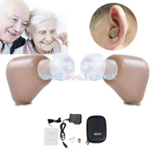 2Packs Aids Mini Ear Adjustable Amplifier