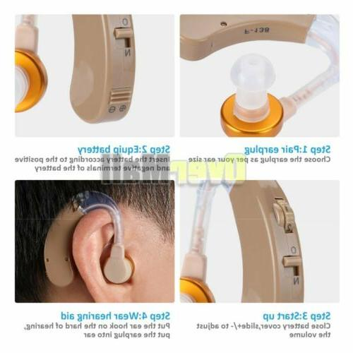 【USA】Digital Hearing Aid Severe Loss Invisible Ear Aids Power Rechargeable