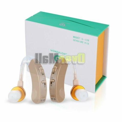 【USA】Digital Hearing Aid Severe Loss BTE Aids Rechargeable