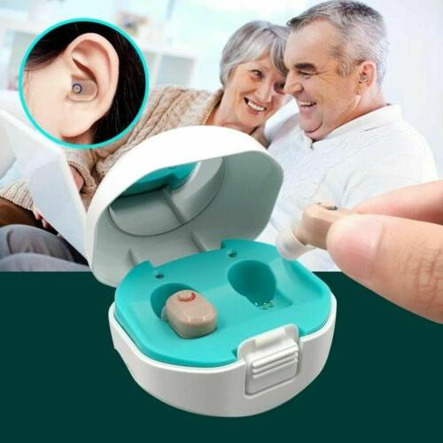 2pcs hearing aid rechargeable invisible digital ear