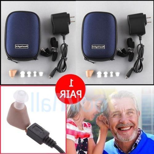 3-PAIRS Digital In Ear Adjustable Tone Amplifier