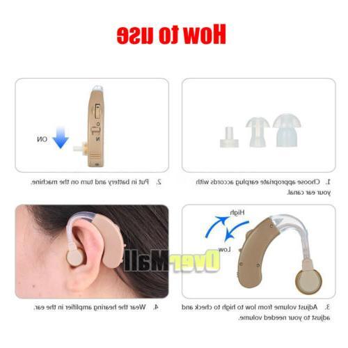 4 Pcs Hearing Aid Aids Behind Sound
