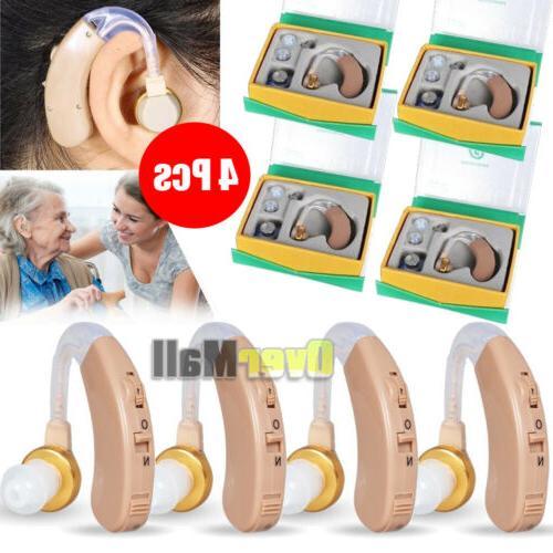 4 pcs of digital hearing aid aids