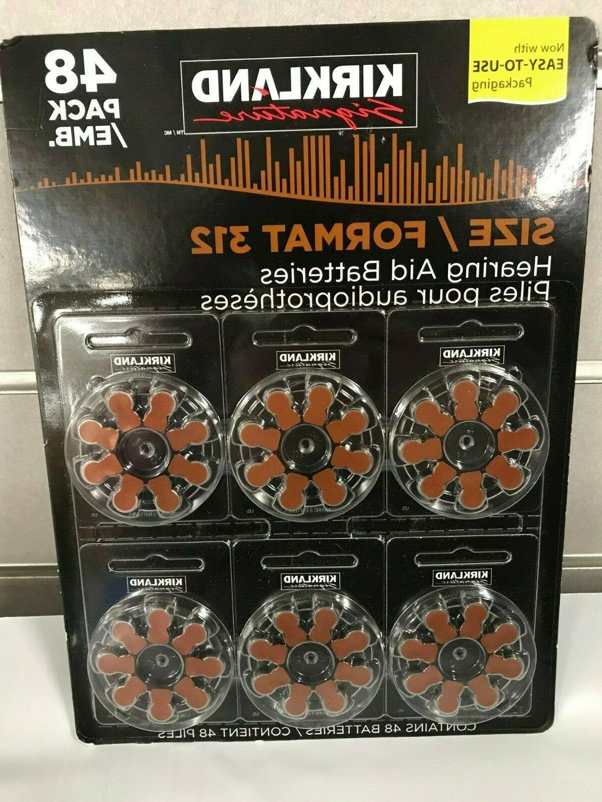 48 hearing aid batteries size 312 zinc