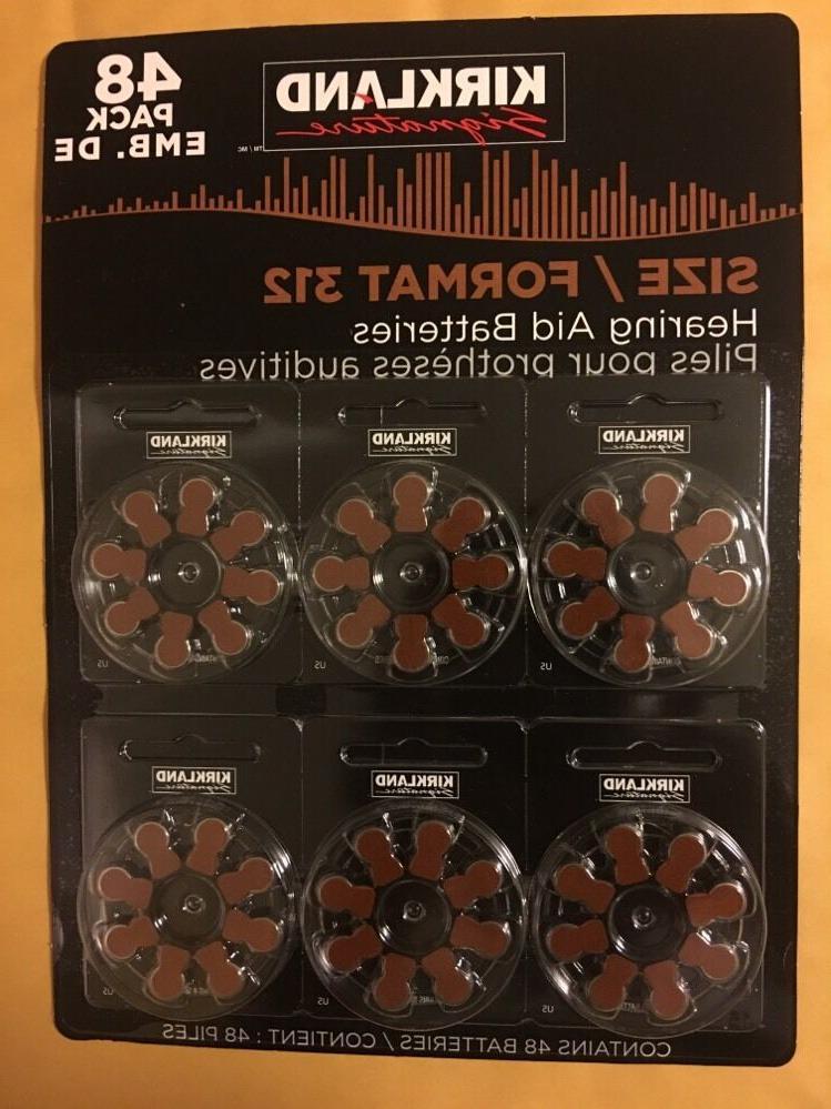 48ct hearing aid batteries 312 zinc air