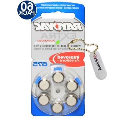 60 Rayovac Hearing Aid Batteries Size 675 Mercury Free +Hold