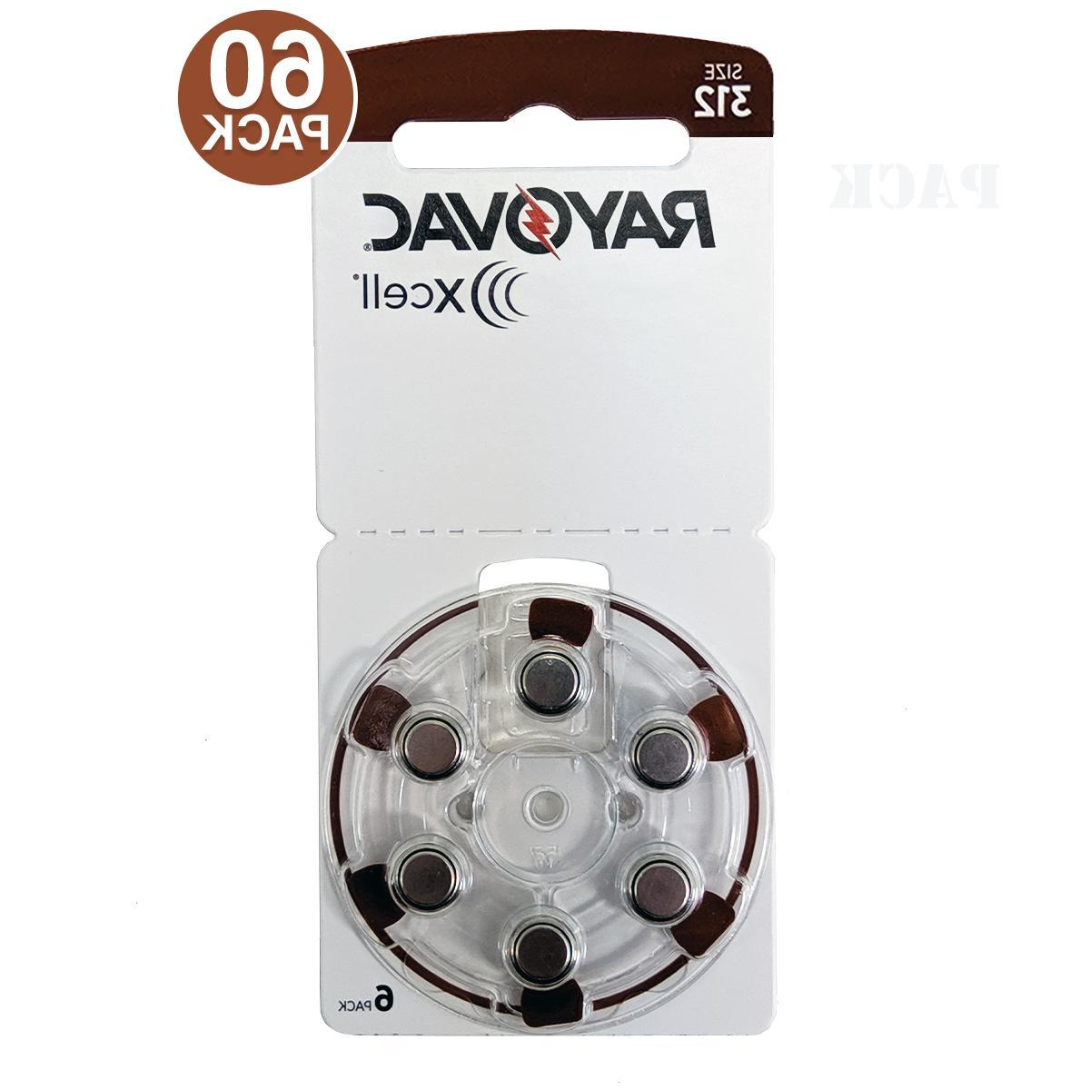 60 rayovac mf hearing aid batteries size