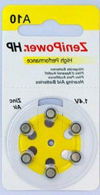 60 Size 10 Zenipower Hearing Aids Aid Batteries