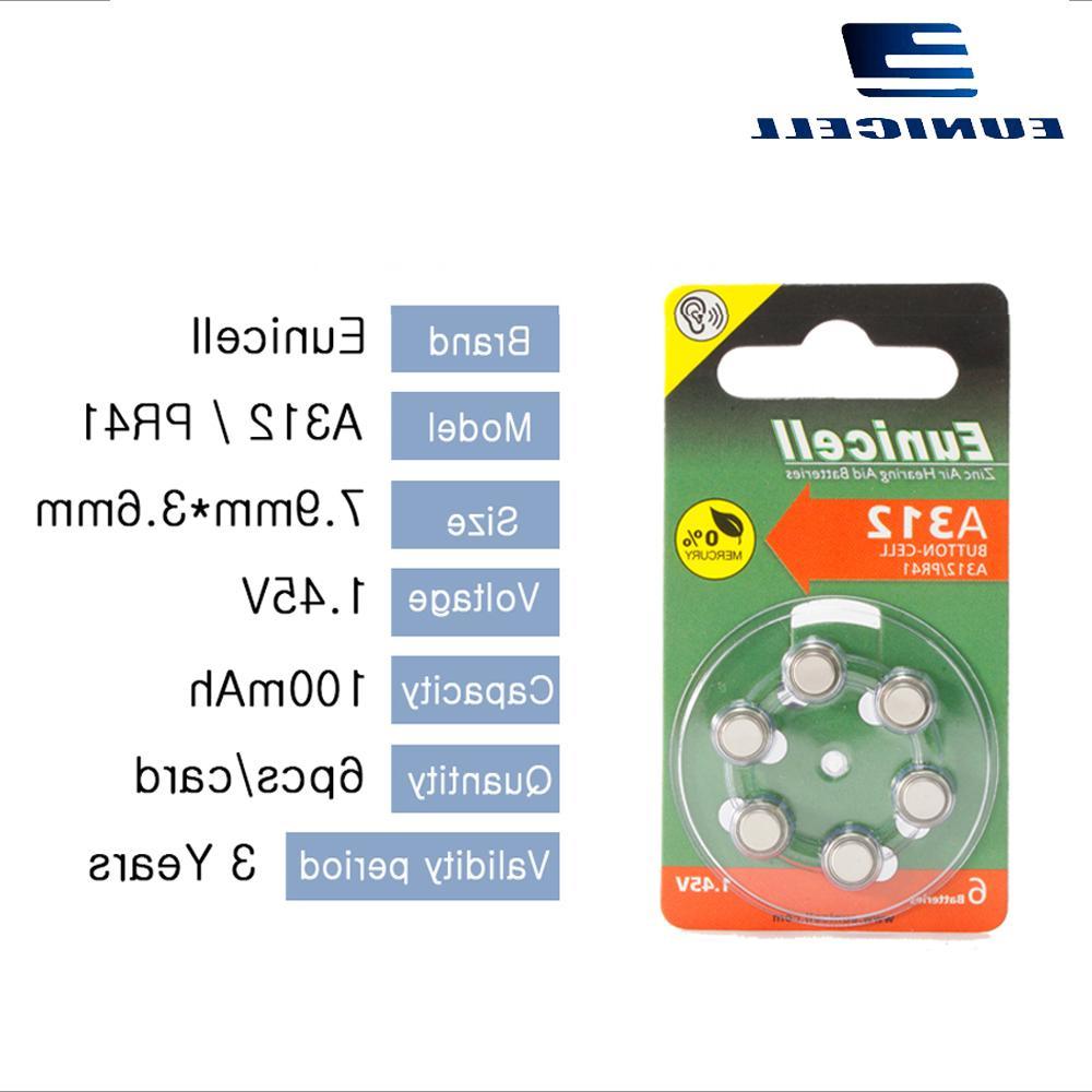 6PCS Zinc 312A ZA312 <font><b>312</b></font> S312 <font><b>Aid</b></font> Battery Ear Care <font><b>Hearing</b></font> <font><b>Aids</b></font>