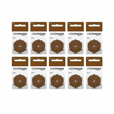 AmazonBasics 312 Aid Batteries, 60-Pack