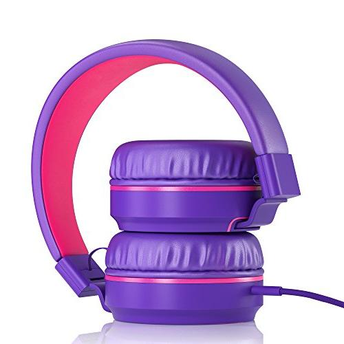 Tangle-Free Wired Compact Stereo Microphone Children, Teen, Adult Phones for Travel-
