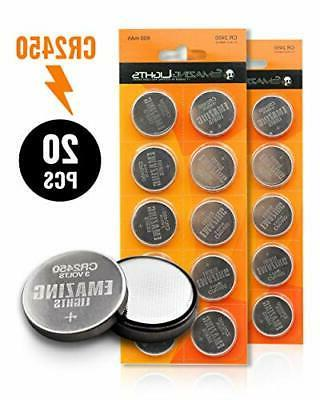 EmazingLights CR2450 Batteries  3 Volt Button Cell Lithium B