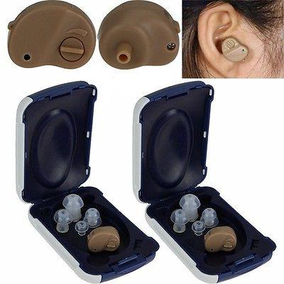 A Pair Invisible Adjustable Tone Hearing Aids