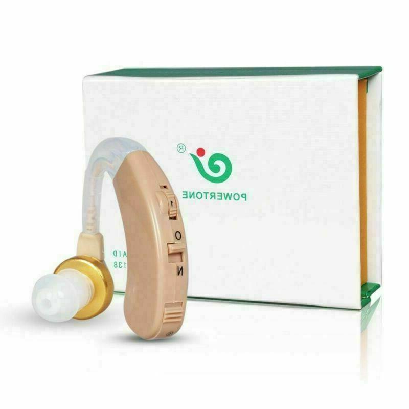 2 Hearing Aids Kit Battery Ear Amplifier