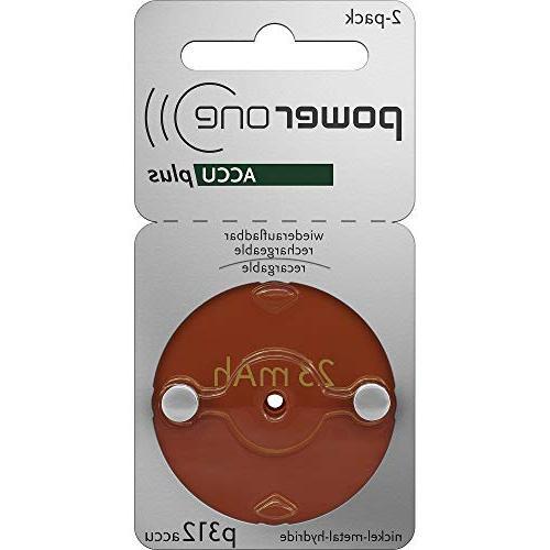 accu plus size 312 rechargeable 4 batteries