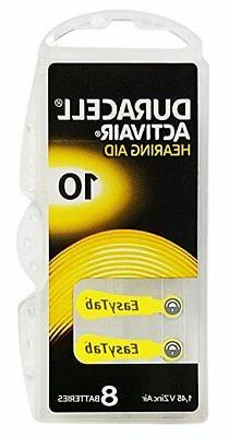 Duracell Activair Hearing Aid Batteries: Size 10