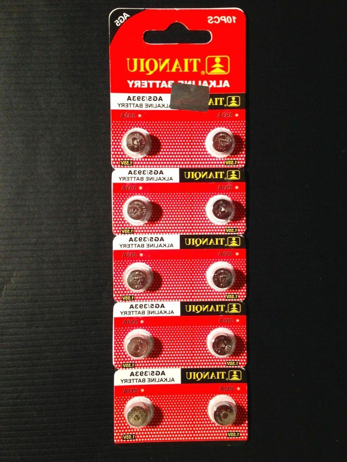 10x AG5 393 LR48 LR754 309 Alkaline Watch