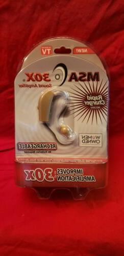 As Seen On TV MSA30X Sound Amplifier Ear Aid Rapid Charger R