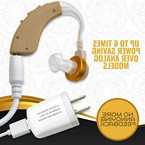 NewEar Behind The Ear Sound BTE Hearing Ear Device and Digital Enhancer PSAD The Hard Reducing