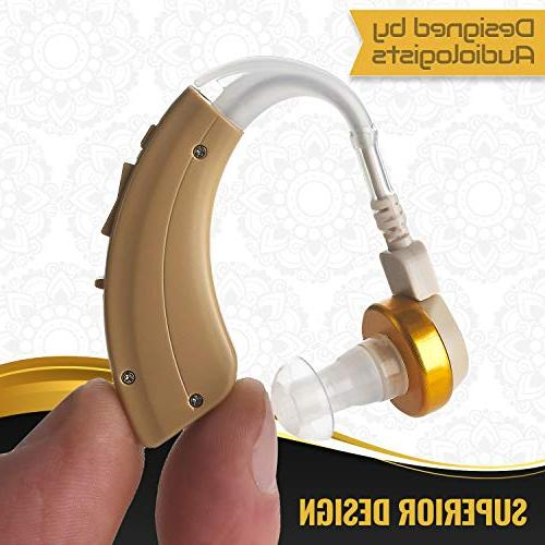NewEar The Sound BTE Hearing Device and Enhancer Hard Hearing, Noise Reducing