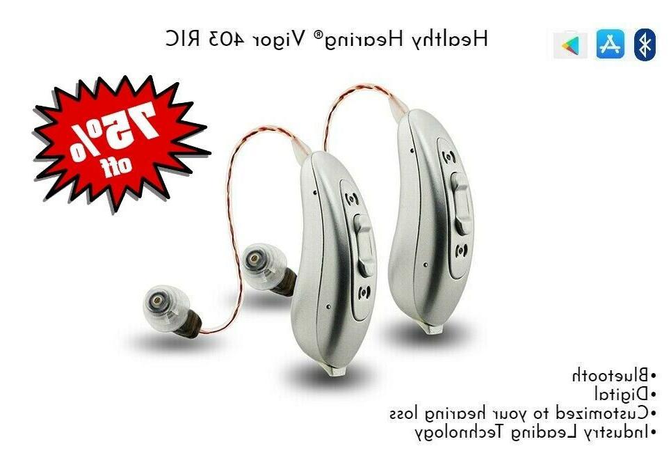 best digital bluetooth ric hearing aids pair