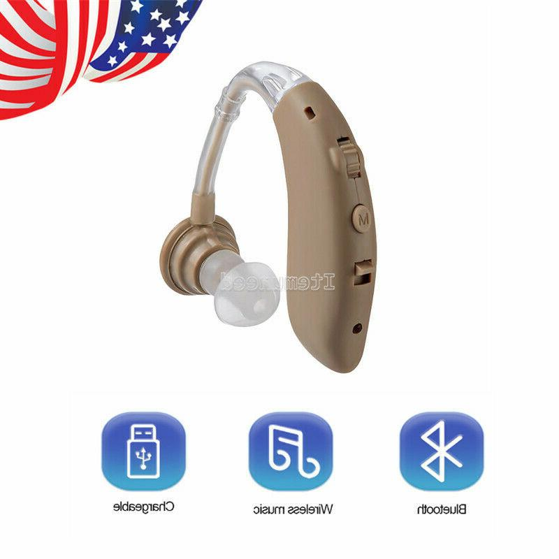 bluetooth rechargeable digital hearing aid severe loss