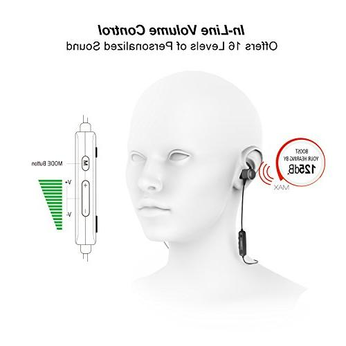 Jabees Bluetooth Listening Devices Hearing Amplifiers Listening Batteries with Sweatproof