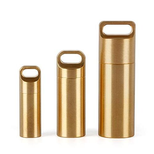 brass pill portable daily pocket