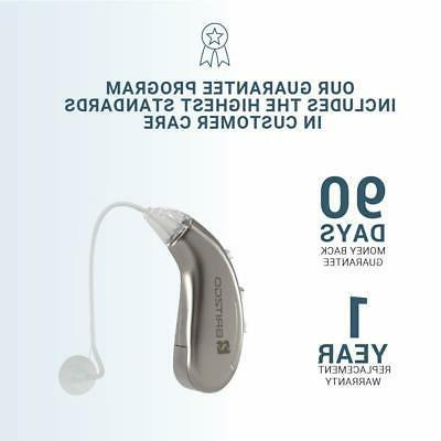 Britzgo Hearing Aid Amplifier Bha-702 Digital Cancelling, Silver, 5