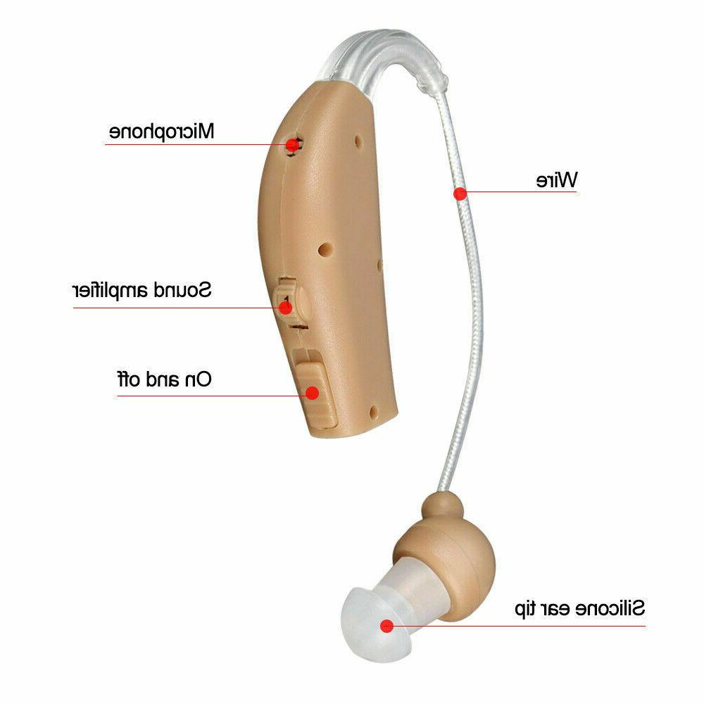 Charge Hearing Aid Cordless Headphone Electronic Behind