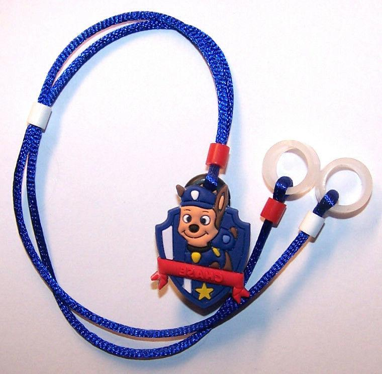 BIG BLUEBOW ..FREE SH! Childs Hearing Aids or Cochlear Implant safety Leash loss retainer cord clip ..