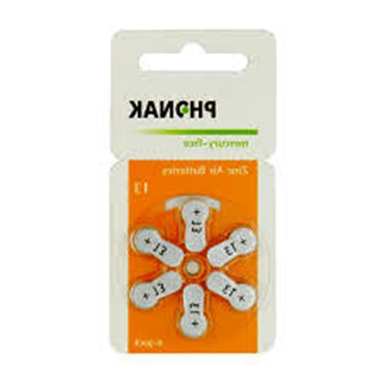 CLOSEOUT! Phonak Size 13 Hearing Aid Batteries, Merc Free -