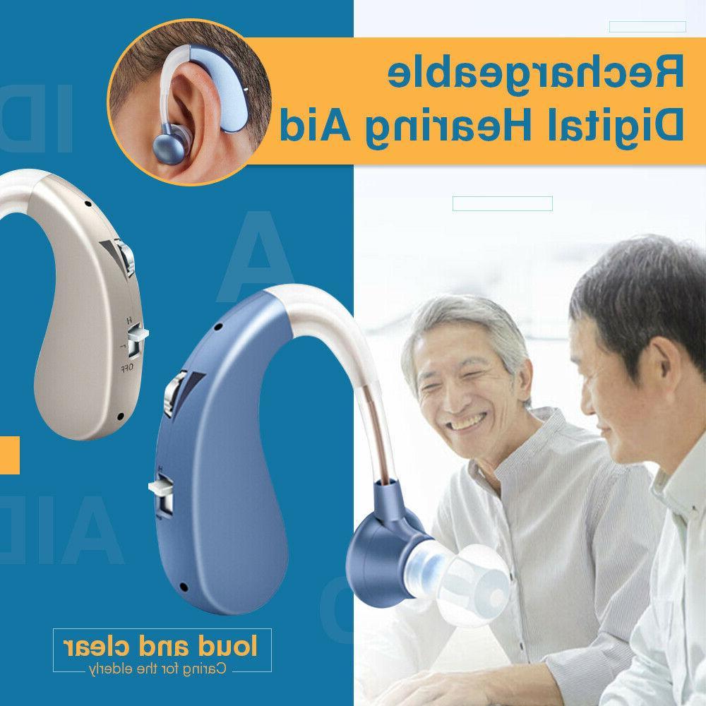 Digital Hearing Aid Severe Loss Invisible BTE Ear Aids High-